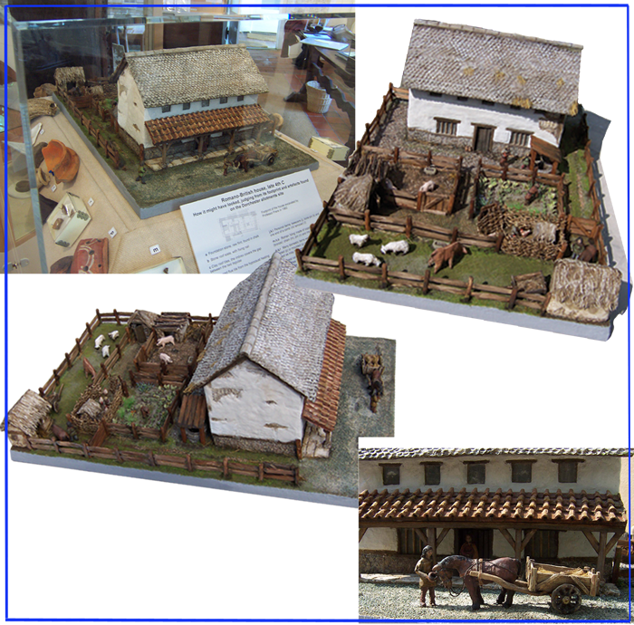 "An architectural reconstruction based on archaeological evidence. ""The Romano-British house is much admired and will continue to be a key feature of our exhibits for a long time to come."" (John Metcalfe, Dorchester Abbey Museum)"