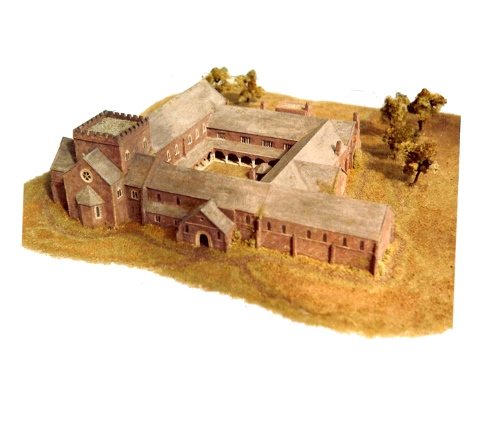 An architectural reconstruction to show the extent of the original building (Royal Albert Memorial Museum, Exeter).